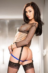 marley-brinx-strips-in-the-hallway