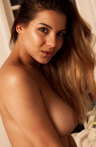 lacey-banghard-strips-in-her-room