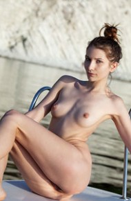 horny-gal-naked-on-a-boat