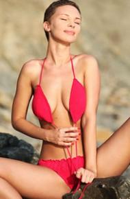 lean-brunette-in-a-red-bikini