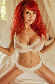 Bianca Beauchamp Strips off her White Lingerie