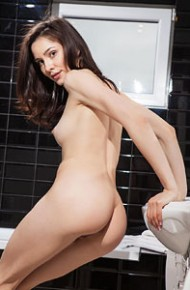 Adel Morel Teasing Naked in the Bathroom