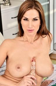 Carol Goldnerova Spreads in Black Lingerie