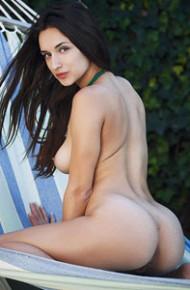 Gloria Sol Naked in a Hammock