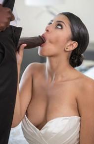 Sophia Leone Hot Bride Rides a Black Cock