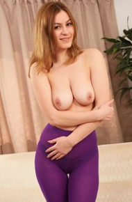 Summer St Claire in Purple Pantyhose
