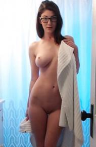Amber Hahn Teasing in the Bathroom