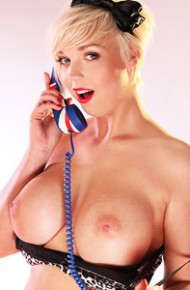 Busty Blonde Likes Phone Sex