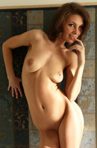 Galina A Spreads in Stockings