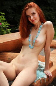 Naked Redhead in the Sun