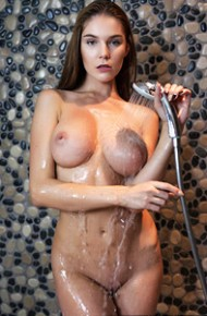 Busty Wet Brunette With A Tight Body