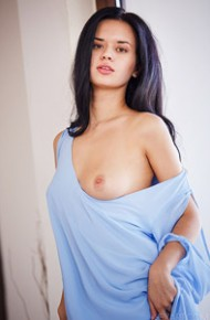 Carmen Summer in a Blue Shirt