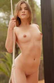 Evelina Darling Naked on a Swing