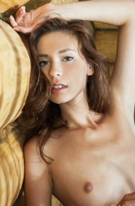 Irina J Naked in a Wooden Cabin