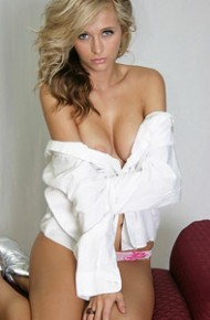 London Hart in a White Shirt and Panties