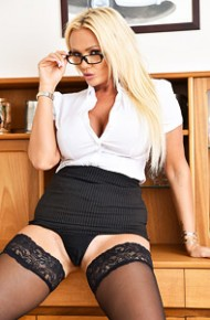 Lucy Zara Office Cougar in Stockings
