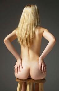 Margot Naked in the Studio