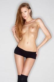 Nude Model in Knee High Socks