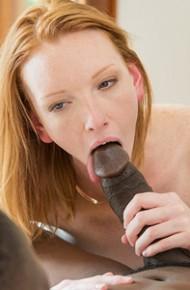 Slim Redhead Katy Kiss Rides a Black Cock