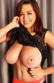 Tessa Fowler in Black Panties