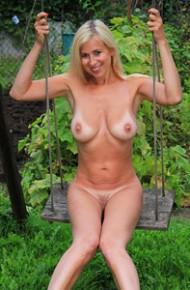 Anastasia Devine in the Backyard