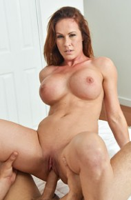 Busty Athletic Cougar Rides Cock