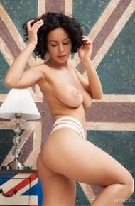 Busty Pammie Lee in White Panties