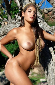 Busty Tanlined Goddess in the Sun