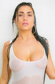 Curvy Latina Teasing in the Shower