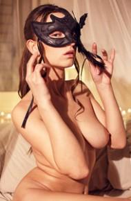 Gloria Sol Wearing a Sexy Mask