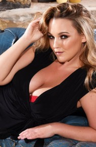 Jodie Gasson Strips on Leather Sofa