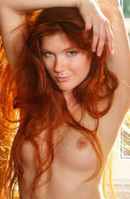 Mia Sollis Naked in Window Light