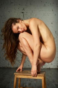 Nude Model With a Tight Body