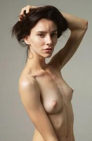 Perky Nude Model in the Studio