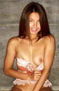 Seductive Slim Brunette With Cute Tits