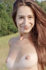 Skinny Nude Erotic Girl in the Sun