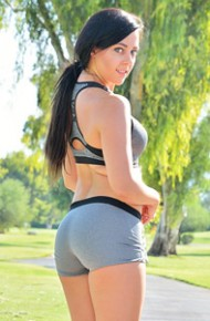 Sporty Girl in Tight Clothes