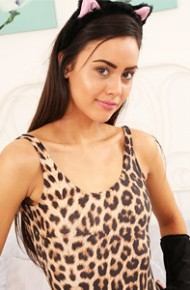 Maria Smith Animal Print Bodysuit