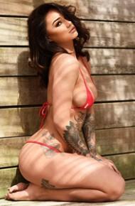 Mica Martinez in a Skimpy Red Bikini