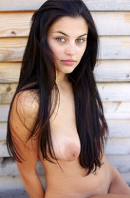 Nude Brunette With Long Hair