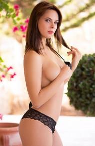 Raise Topless in Black Panties