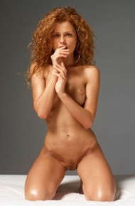 Red Hot Nude Beauty in the Studio