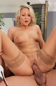 Holly B Fucked in Tan Stockings