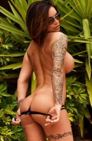 Provocative Gemma Massey in a Bikini