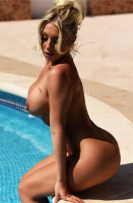 Stacey Robyn Strips in the Pool