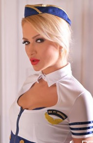 Cherry Kiss Flight Attendant Toying