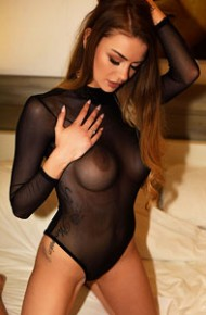 Emelia Paige In a Sheer Bodysuit