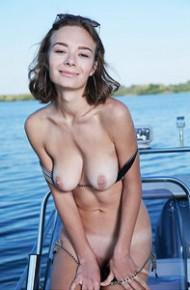 Gerda S Strips on a Boat