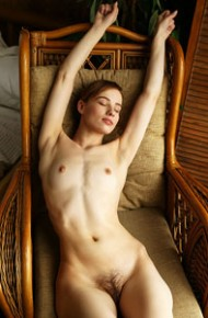 Hairy Model in a Chair