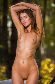 Mary Kalisy Nude in the Woods